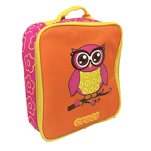 Crocs Pink and Orange Girls Owl Insulated Lunch Bag Tote