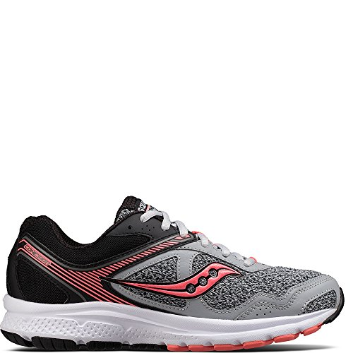 Saucony Women's Cohesion 10 Running Shoe, Grey Coral, 9 Medium US
