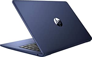 HP 14inch Stream Laptop, AMD A4-9120 Processor Up to 2.2 GHz, 4GB DDR4 RAM, 32GB SSD, AMD Radeon Graphics, WiFi, Bluetooth, HDMI, Win10 Home (Renewed) (Royal Blue/32GB)