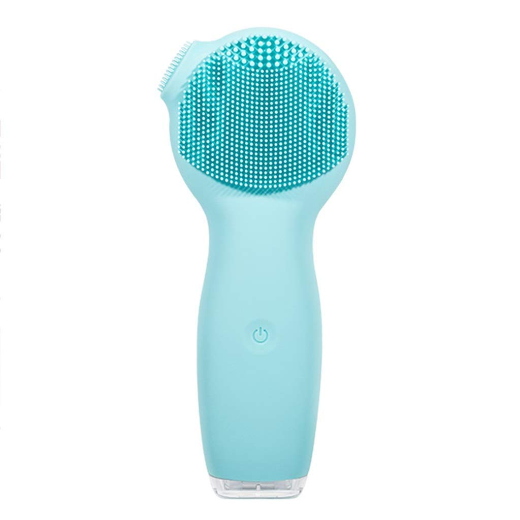 HAOMEI Facial Cleansing Brush Facial Cleaner, Cleansing Instrument, Electric Silicone Mushroom Washing Instrument, Ultrasonic Cleansing Instrument, Artifact Pore Cleaner, Blackhead (Color : Blue)