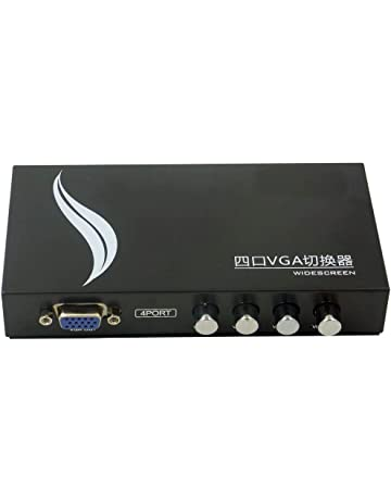 Sienoc Conmutador VGA 4 puertos SVGA VGA manual Sharing switch 1 monitor a 4 PC