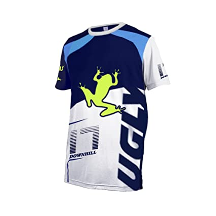 8f9e7dd68 Image Unavailable. Image not available for. Color  Uglyfrog 2018 New Mens  Outdoor Sports Downhill jeresey MTB Cycle Short Sleeve Cycling Jersey for  Summer