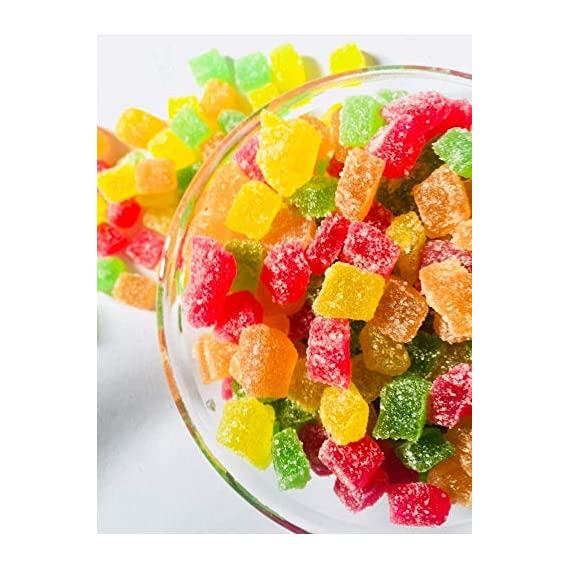 dhanesh spices Jelly Bites | Jelly Candy 1 kg [Sweet Coated in Sugar and Brightly Coloured Candies] (1 kg)