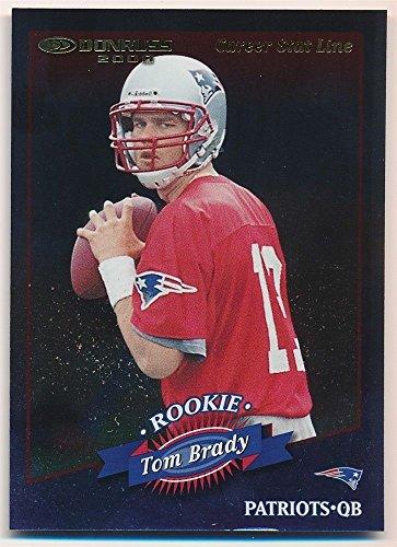 Tom Brady 2000 Donruss  230 Rc Rookie Card Career Stat Line Patriots Sp  116 214