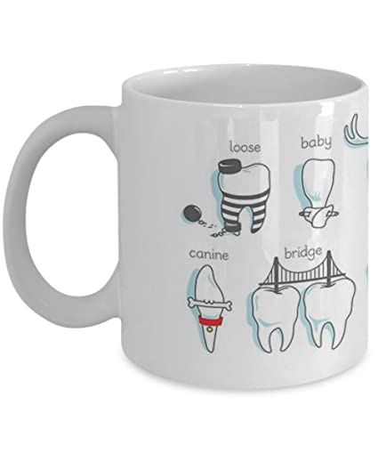 Dental Definitions, Dentist Mug - Coffee Mug, Tea Cup, Funny, Quote, Gift  Idea for Him or Her, Women and Mother, Father's Day, Sister, Brother,