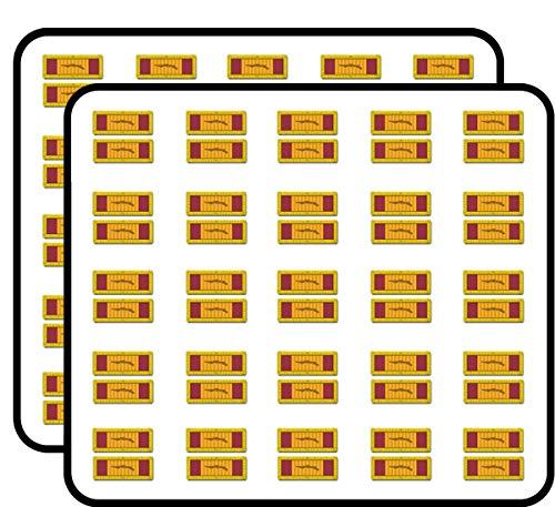 (US Army Republic of Vietnam Gallantry Cross Unit Citation Ribbon Vinyl Transfer 50 Pack Sticker for Scrapbooking, Calendars, Arts, Album, Bullet Journals and More 1