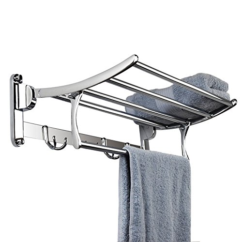 Candora Wall Mounted Shelf Towel Rack Stainless Steel Brushed Towel ...