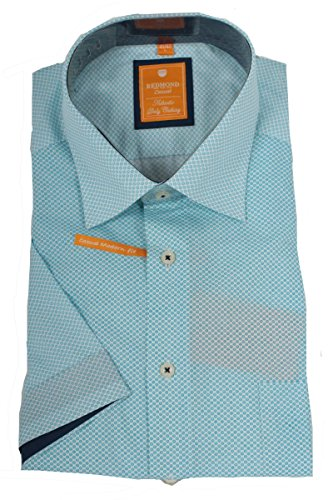 REDMOND Hemd Modern Fit 1/2-Arm hellblau