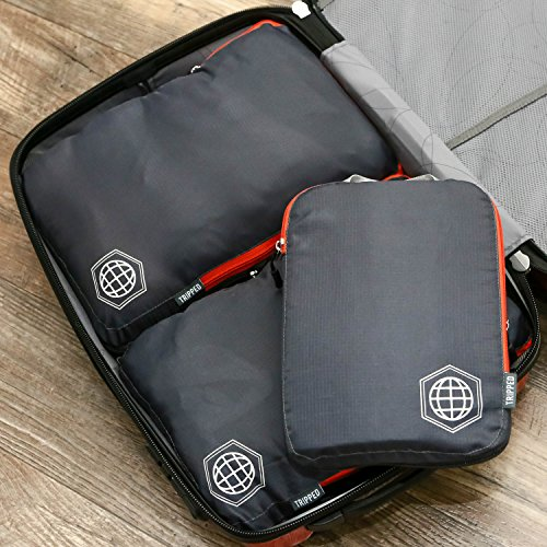 Packing Cubes Compression Set for Carryon Travel- Luggage Organizer Bags