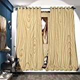 BlountDecor Waterproof Window Curtain Wooden Texture Pattern Grains Wood Natural Tree Growth Lines