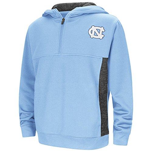 North Carolina Tar Heels Youth NCAA Goon Docks 1/2 Zip Hooded Pullover - Carolina Blue , Youth Small