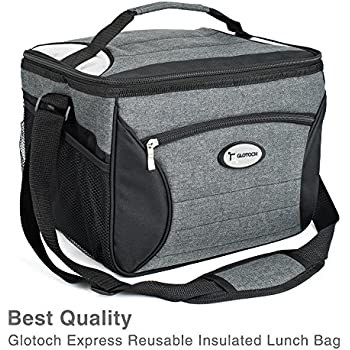 Amazon Com Insulated Lunch Bag Cooler Lunch Box Tote For