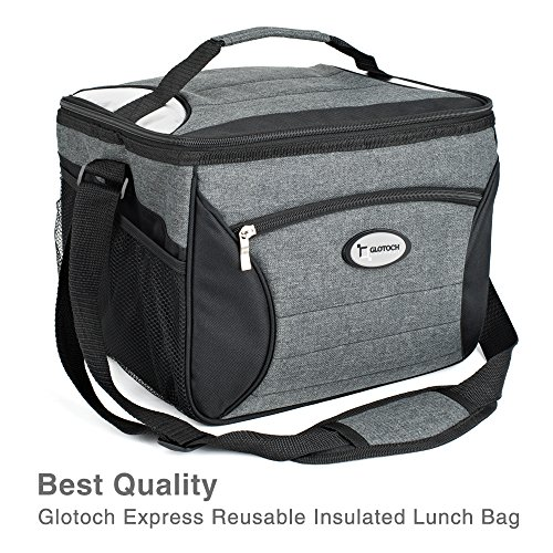 Glotoch Large Meal Prep Bag Cooler Bag Insulated Lunch Bag Box