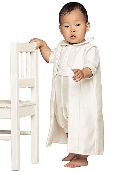 7275420f6 ShineGown Baby Boys' Baptism Gown Christening Outfit Short Sleeves Romper  Bodysuit 3 Pieces with Waistcoat