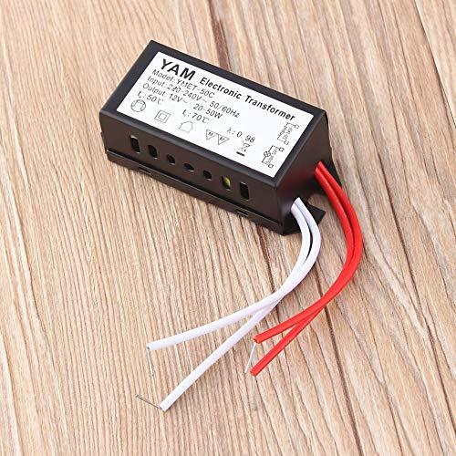 Prinfong 220V /à 12V 20-50W Lampe halog/ène transformateur /électronique Alimentation du Pilote LED pour Lampe halog/ène Basse Tension