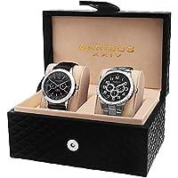 Akribos XXIV Men's AK740SSB Silver-Tone Watch Set