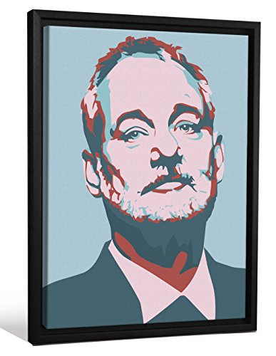 Cannonwalls FCNV2240 Framed Gallery Wrap Heavyweight Canvas Art Wall Decor (Bill Murray Blue Pink Andy Warhol at 26.375
