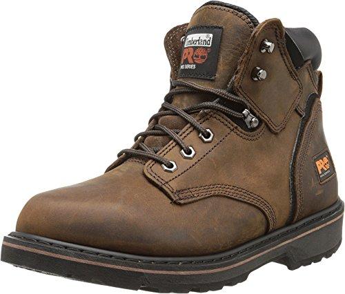 Timberland PRO Men's Pitboss 6' Soft-Toe Boot,Brown,9.5 M