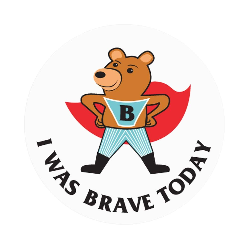 PDC Healthcare 59708873 Label, ''I WAS BRAVE TODAY'', 2'' Circle, White (Pack of 250)