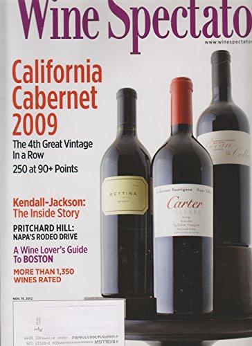 Wine Spectator November 15, 2012 California Cabernet 2009 (Hill Napa Cabernet)