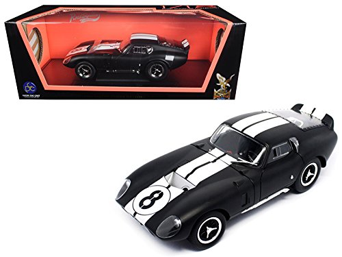 (1965 Shelby Cobra Daytona Coupe #8 Matt Black 1/18 Model Car by Road Signature)