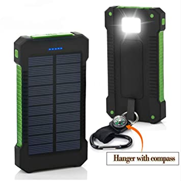 OSB STYLE Banco de energía Solar 30000mAh Cargador Solar ...