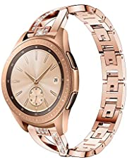 Vanctec for Galaxy Watch 42mm 46mm straps - X/D-Link Fashion Design Stainless Steel Metal Replacement Band Link Bracelet