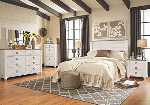 Ashley Furniture Signature Design - Willowton Chest of Drawers - Contemporary Dresser - Two-tone