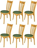 Mavi Unique Green Garden Chair Set of 6 (DEC-117)