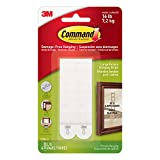Command Large Picture-Hanging Strips, White, 16-Strips