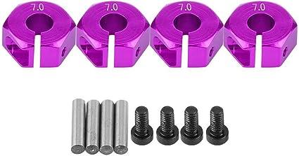 RC 1//10 Aluminium Alloy Wheel Hex 12mm Blue//Purple//Gold W//Pins Fits Tamiya HSP