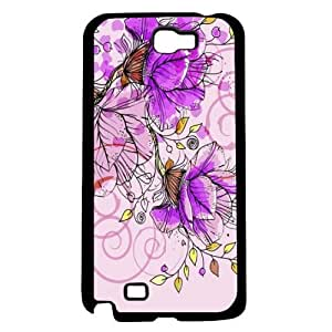 Pink Flower Pattern Hard Snap on Case (Galaxy Note 2 II)