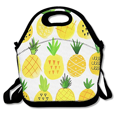 Price comparison product image Pineapple Lunch Bag Insulated Tote Handbag lunchbox Food Container Gourmet Tote Cooler Warm Pouch With Shoulder Strap For Women Teens Girls Kids Adults