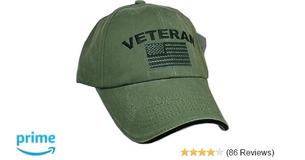 Amazon.com  Eagle Crest Military Veteran U.S. Flag Cap a28777c68d4