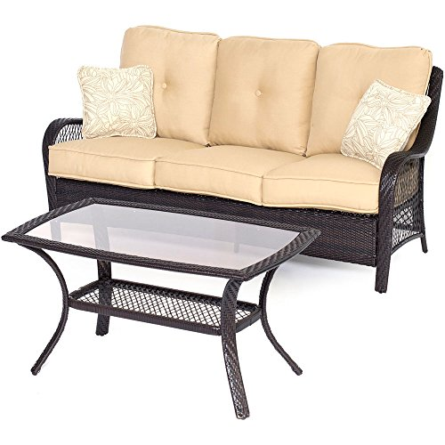 Hanover Orleans Seating Set (2-Piece) Sahara Sand / French Roast ORLEANS2PC-B-TAN