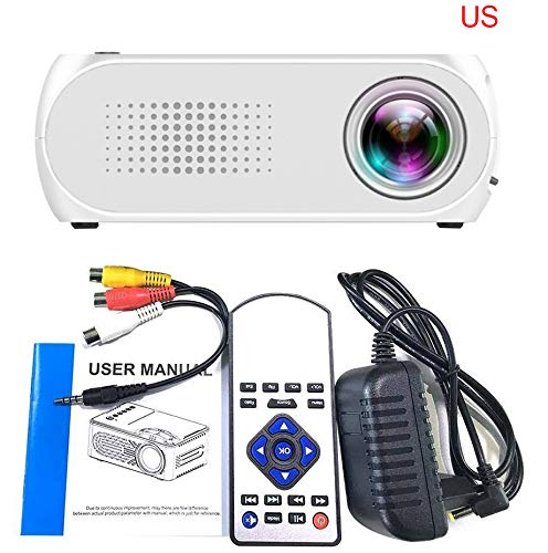 Price comparison product image KUNAW Mini Projector,  Video Projector (2019 Upgraded) 1080P Supported with 1000 Lumens LED Portable Projector