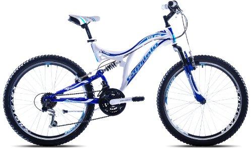 Capriolo Mountainbike 24 Zoll für Kinder /CTX240/, MTB, geeignet für 8 - 11 Jahre, Shimano 18 Gang, vollgefedert