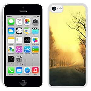 New Beautiful Custom Designed Cover Case For iPhone 5C With Trees Roads (2) Phone Case