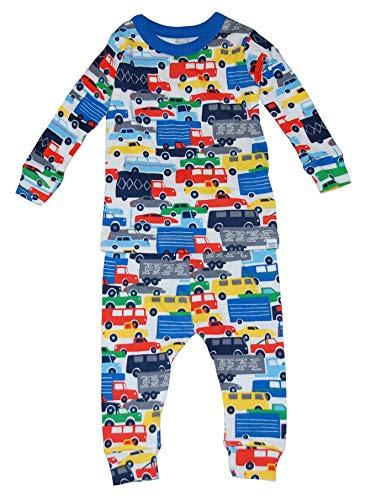 GAP Baby Boys Truck Jam Sleep Set 2 Pc Pajama Set (6-12 Months) Gray