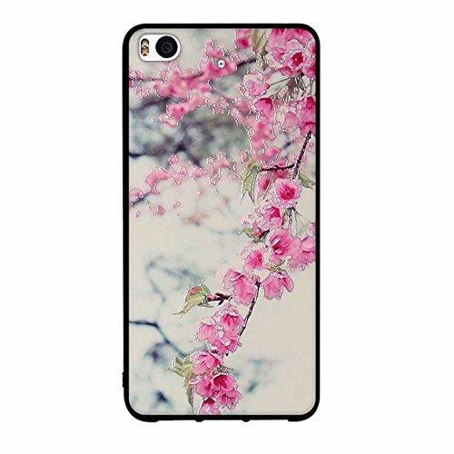 Funda Xiaomi Mi 5s, FUBAODA [Flor rosa] caja del teléfono elegancia contemporánea que la manera 3D de diseño creativo de cuerpo completo protector Diseño Mate TPU cubierta del caucho de silicona suave pic: 05