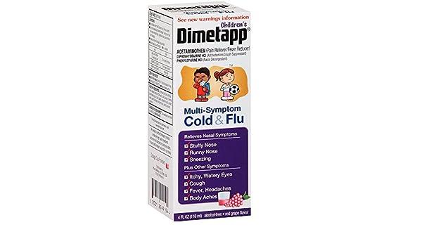 Amazon.com : Dimetapp Childrens Multi-Symptom 4 Fl oz : Grocery & Gourmet Food