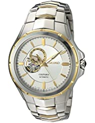 Seiko Mens Japanese Automatic Stainless Steel Casual Watch, Color:Two Tone (Model: SSA314)