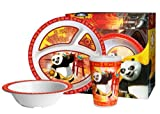 Kung Fu Panda 3 Piece Childrens Melamine Tableware Set-All Paths Lead To Food