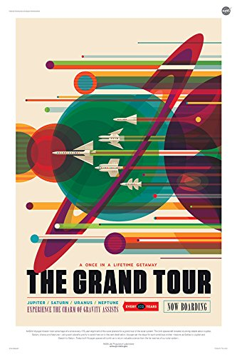 The Grand Tour - A Voyage of a Lifetime - NASA JPL Space Tourism Travel Poster - Unframed (24