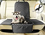 Dog Seat Cover for Cars,C&D 3 in 1 Waterproof Pet Front Seat Cover, Backseat Cover, Pet Booster Carrier, Deluxe 900 Oxford, Quilted Fabric,Waterproof Protector for Car Seats with Safety Belt (Black)