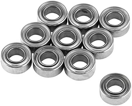 10 Piezas MR63ZZ Rodamientos de bolas,Asixx,3x6x2.5mm,Mini ...