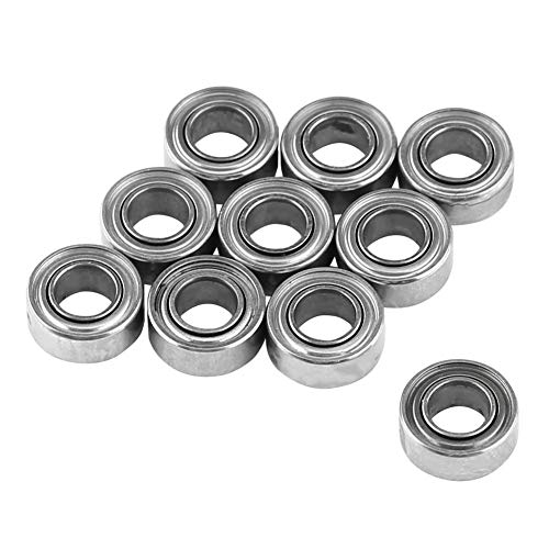 Double Shielded Bearing, 10pcs MR63ZZ Double-Shielded Miniature Ball Bearings 3x6x2.5mm for 3D Printer, Model Making (Best 3d Printer For Miniatures)