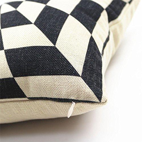EDELYN retro di cotone Piazza Divano tiro sede federa del cuscino copertura dellautomobile coperture dellammortizzatore per la casa, 45*45cm(B)