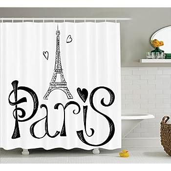 Amazon Com Ambesonne Paris City Decor Collection Eiffel