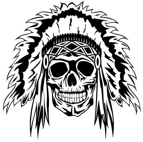Wall Stickers Skull Halloween Sticker Punk Death Decal Halloween Terror Devil Poster Name Car Window Art Wall Decals 58X58Cm